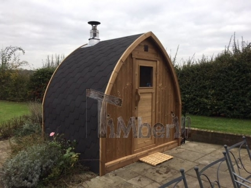 """2 M Small Outdoor Sauna Iglu With Wood Fired """"Harvia"""" Heater, Peter Gales, Hertfordshire, UK (3)"""