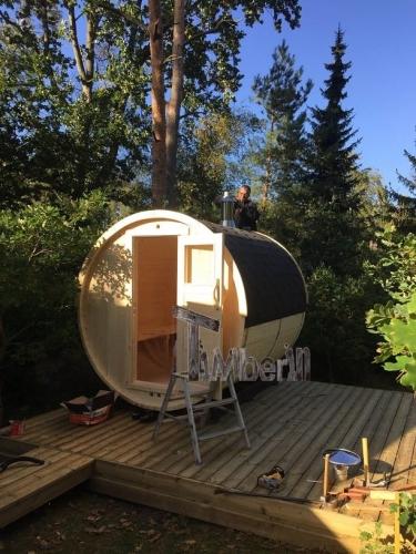 Udendørs Sauna Barrel Thermowood, Jakob Hedegaard, Asserbo, Danmark (6)