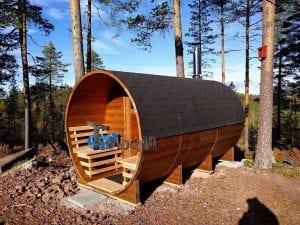 Utendørs Vedfyrt Tønne Badstuer, Lene Walhovd, Lysaker, Norway (3)