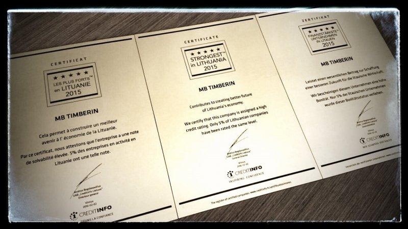 TimberIN certificates FR