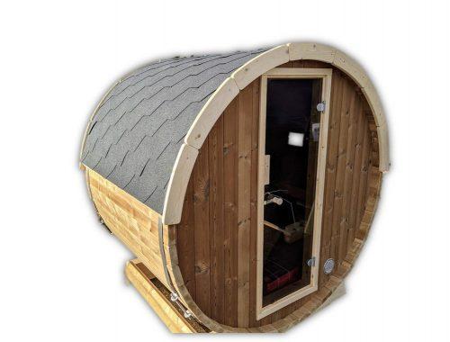 Sauna Extérieur Tonneau Mini Pour 2 4 Personnes Thermo Bois (45)