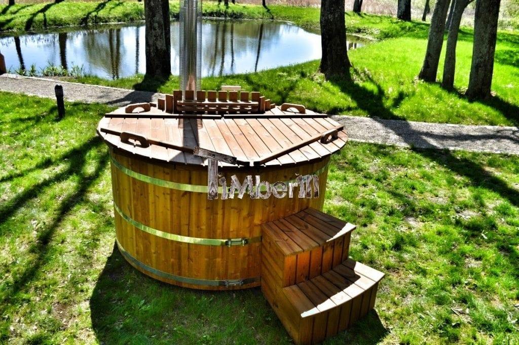 bain nordique jacuzzi spa en bois deluxe. Black Bedroom Furniture Sets. Home Design Ideas