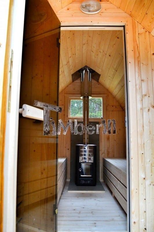 Jardin ext rieur sauna en bois igloo avec des po les harvia officiels - Sauna exterieur poele bois ...