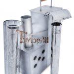 Intérieur poêle en acier inoxydable pour le bain nordique