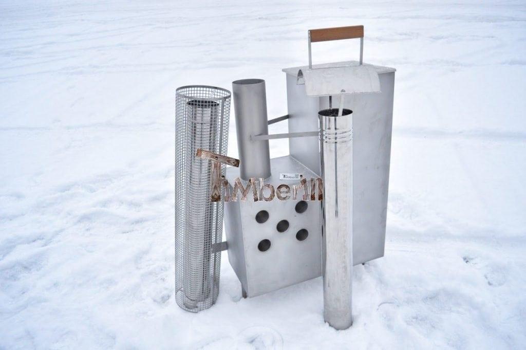 Po u00eale interne en acier inoxydable pour bains nordiques TimberIN # Poele A Bois Pour Bain Nordique