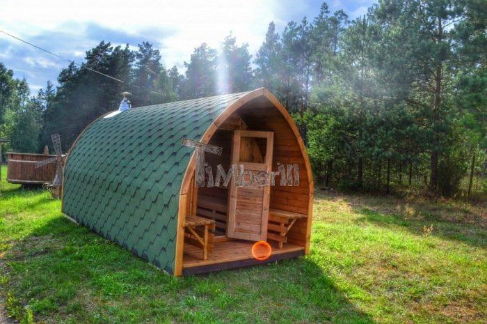 sauna exterieur poele bois