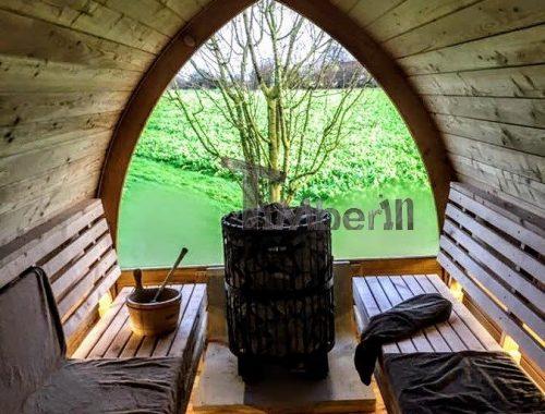 Jardin Extérieur Sauna En Bois Igloo Design (4)