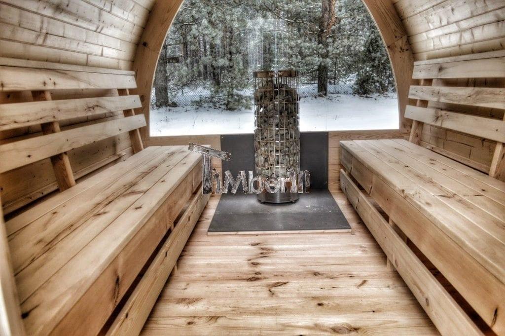 Jardin ext rieur sauna en bois igloo avec des po les harvia officiels - Sauna bois exterieur ...