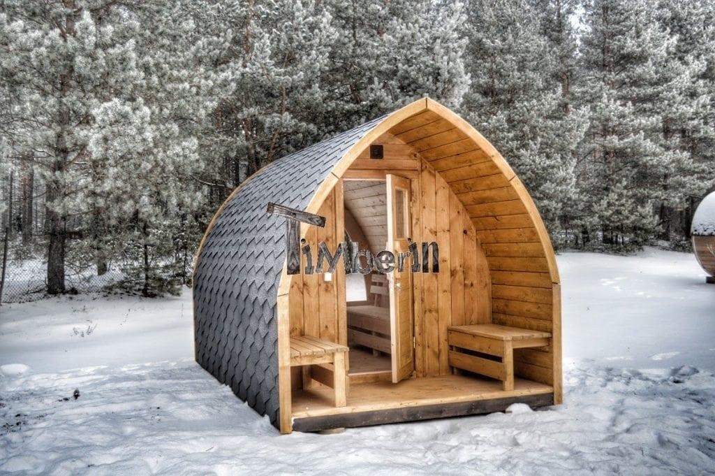 Jardin ext rieur sauna en bois igloo avec des po les harvia officiels - Sauna exterieur finlandais bois ...