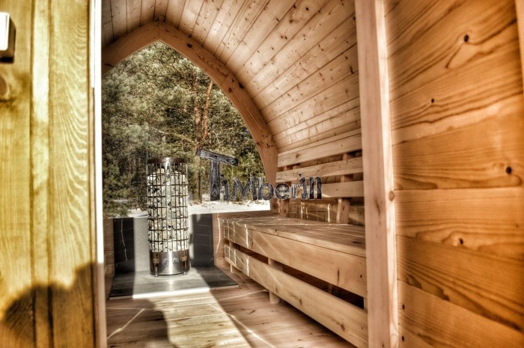 jardin ext rieur sauna en bois igloo avec des po les harvia officiels. Black Bedroom Furniture Sets. Home Design Ideas