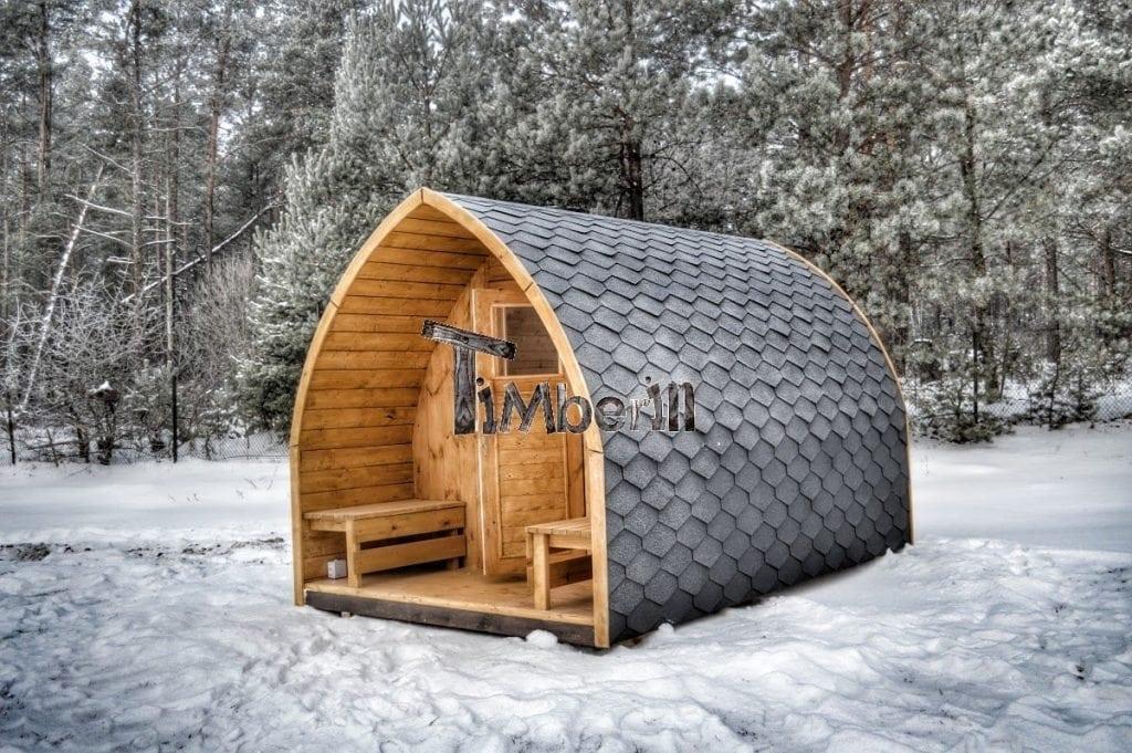 Jardin ext rieur sauna en bois igloo avec des po les for Four a bois exterieur pas cher