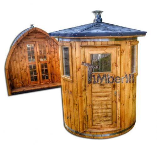 sauna en bois Vertical