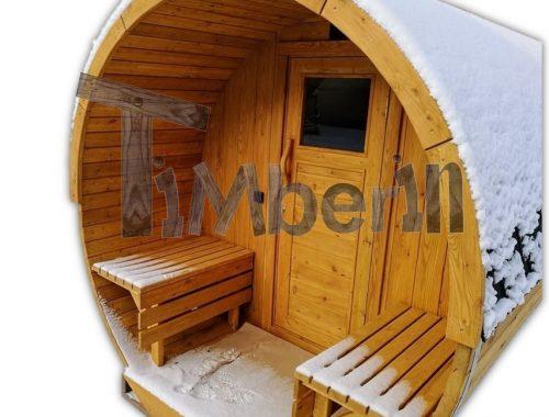 Sauna Extérieur Tonneau TimberIN Main