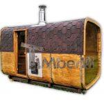 Sauna extérieur nordique barrique rectangulaire