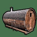 Sauna extérieur tonneau rond