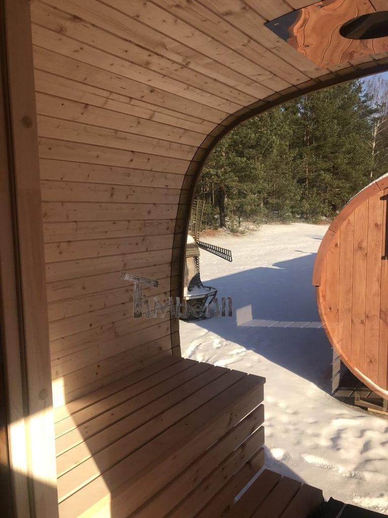 le sauna ext rieur avec fen tre panoramique offre sp ciale. Black Bedroom Furniture Sets. Home Design Ideas