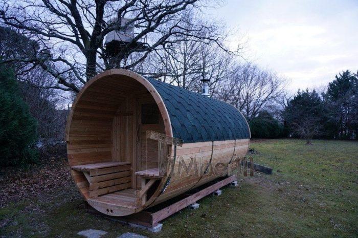 Sauna Barique En Bois De Méleze Avec Une Poêle De Bois, Avec La Fenêtre Panoramique, Thierry, Chemin Oianetxeberria, France (2)