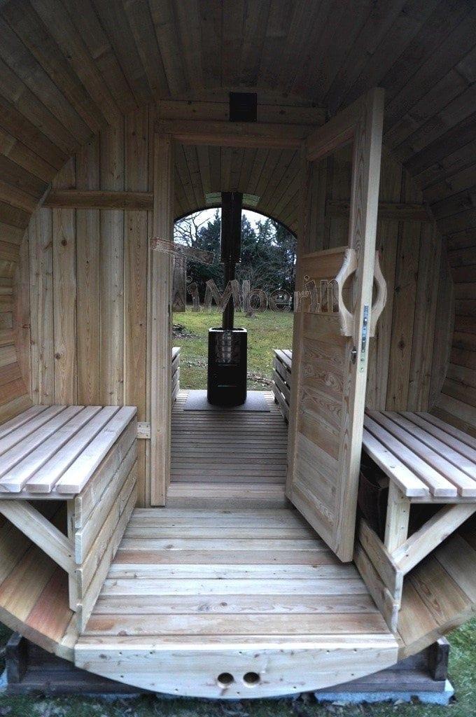 Sauna Barique En Bois De Méleze Avec Une Poêle De Bois, Avec La Fenêtre Panoramique, Thierry, Chemin Oianetxeberria, France (6)
