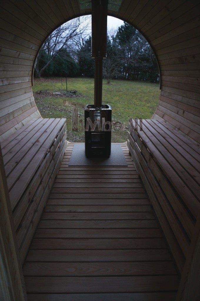 Sauna Barique En Bois De Méleze Avec Une Poêle De Bois, Avec La Fenêtre Panoramique, Thierry, Chemin Oianetxeberria, France (7)