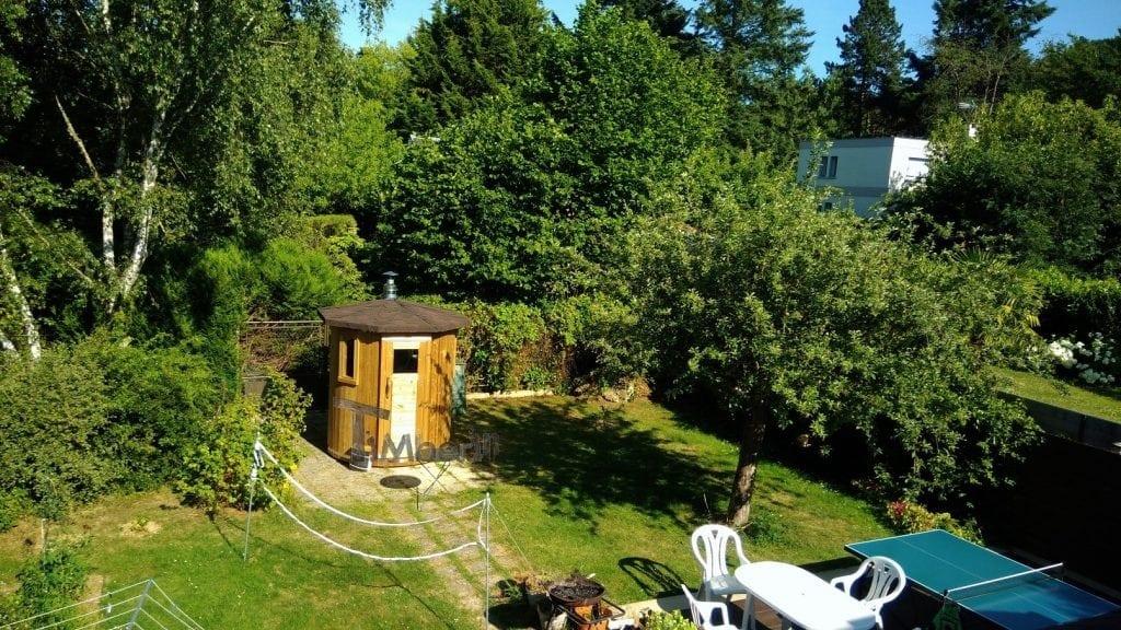 Sauna extérieur pour les petits jardins Jean Louis Gif sur Yvette France