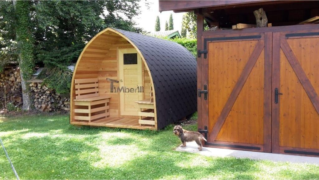 Jardin extérieur sauna en bois Igloo 5 M Anne Meinier Schweiz 1