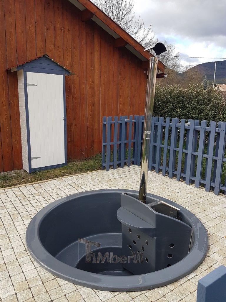 Bain suédois en fibre de verre Modèle Terrasse Nadiège Pré la Chèvre France