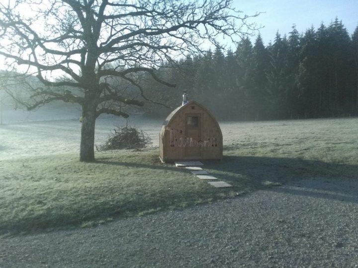 Jardin Extérieur Sauna En Bois Igloo Design, BOURGUIGNON, France (3)