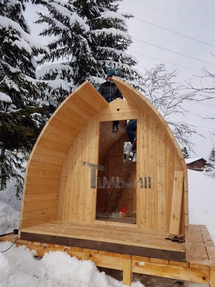 Jardin Extérieur Sauna En Bois Igloo Design, Cédric, Les Mosses, Suisse (2)