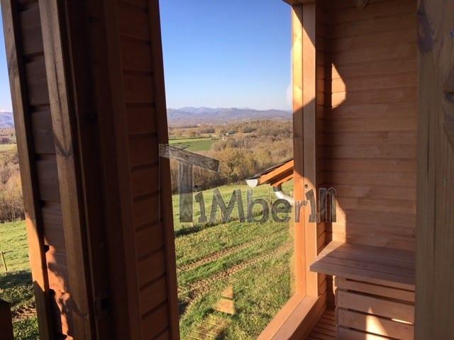 Moderne Sauna D'extérieur, Jean Marc, Saucede, France (12)