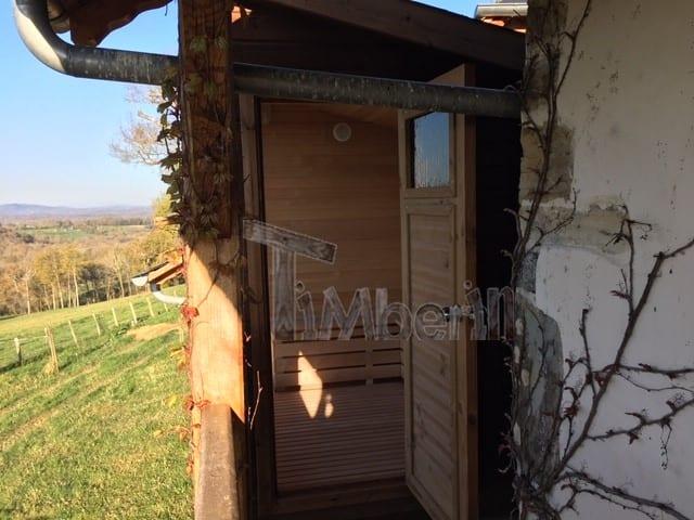 Moderne Sauna D'extérieur, Jean Marc, Saucede, France (13)