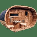Sauna extérieur oval 4 5 6 places