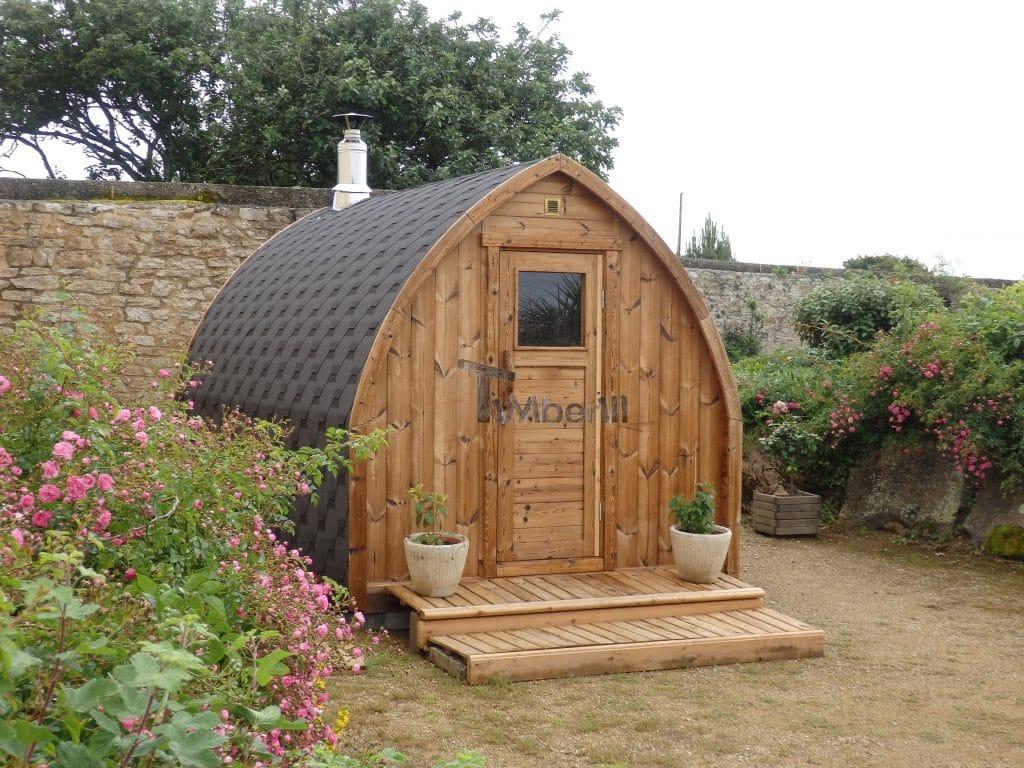 Jardin extérieur sauna en bois Igloo design Claire PLOUHINEC France 1