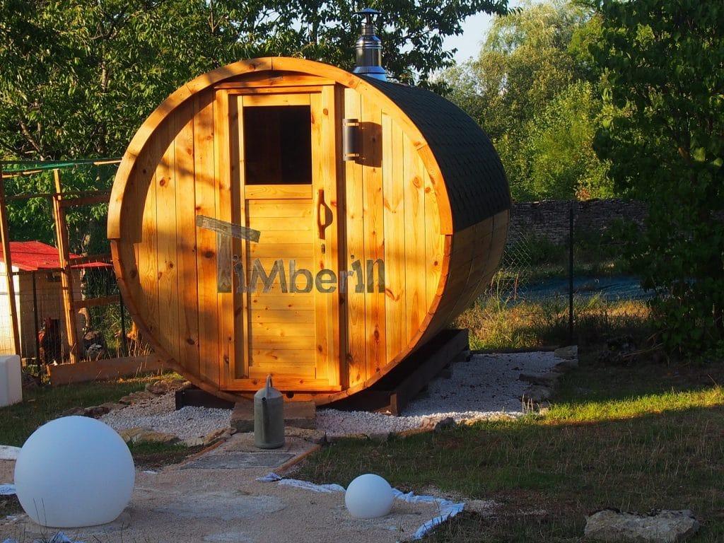 Saunas Extérieur Tonneau Évelyne GISSEY SUR OUCHE France 2