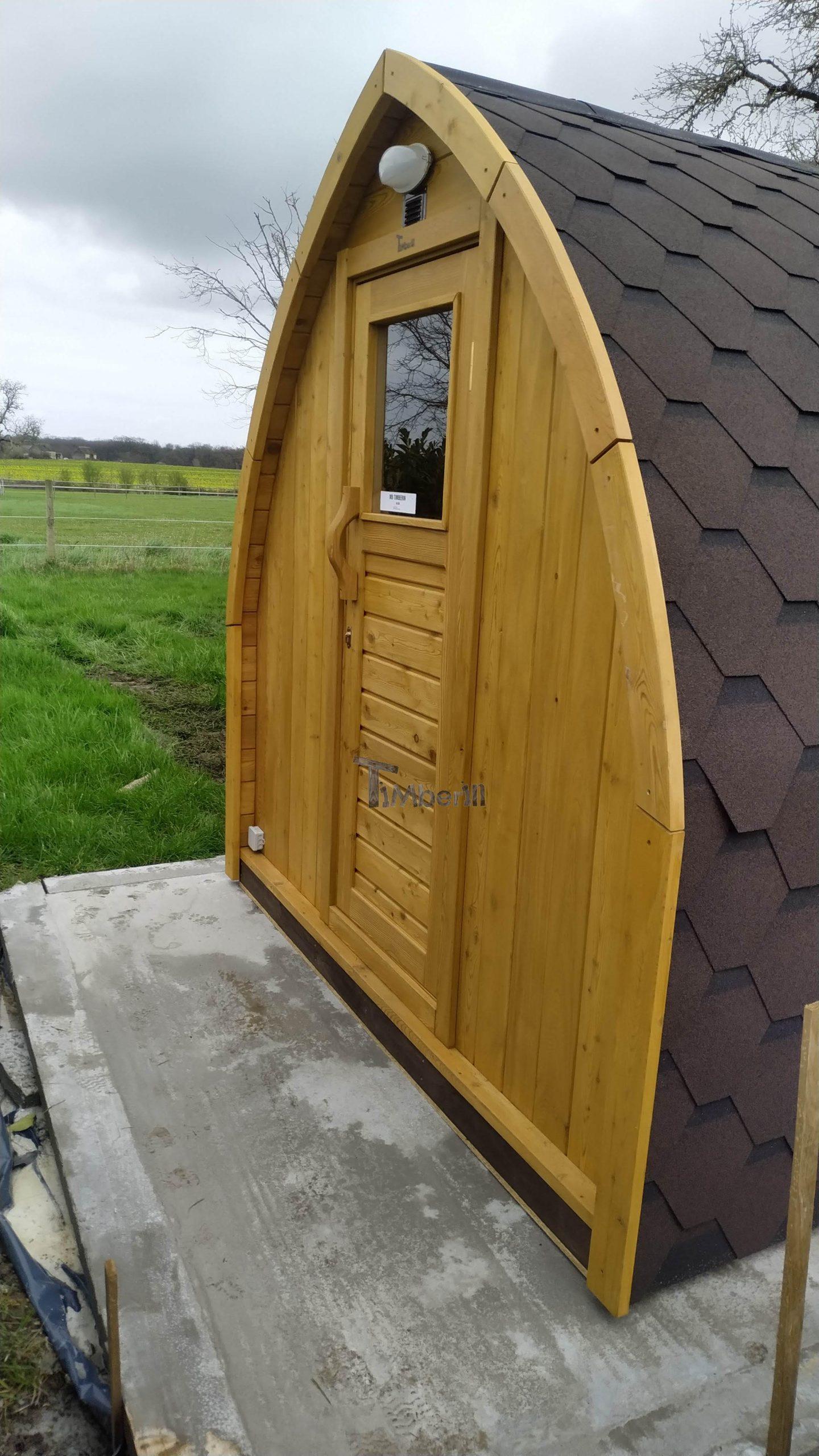 Jardin extérieur sauna en bois Igloo design Caroline LE GRAND PRESSIGNY France 4 scaled