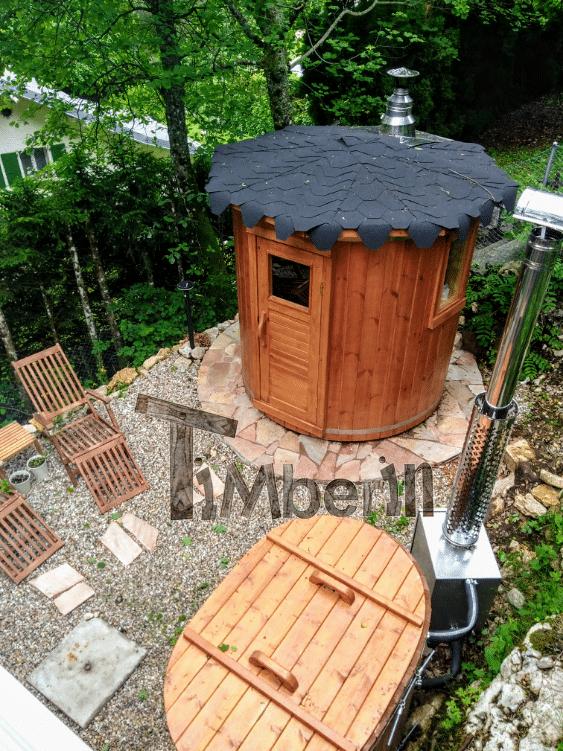 Sauna Extérieur Pour Un Espace De Jardin Limité, Bain Nordique En Bois Pour 2 Personnes, Hansjoerg, Saint Cergue VD, Suisse (2)
