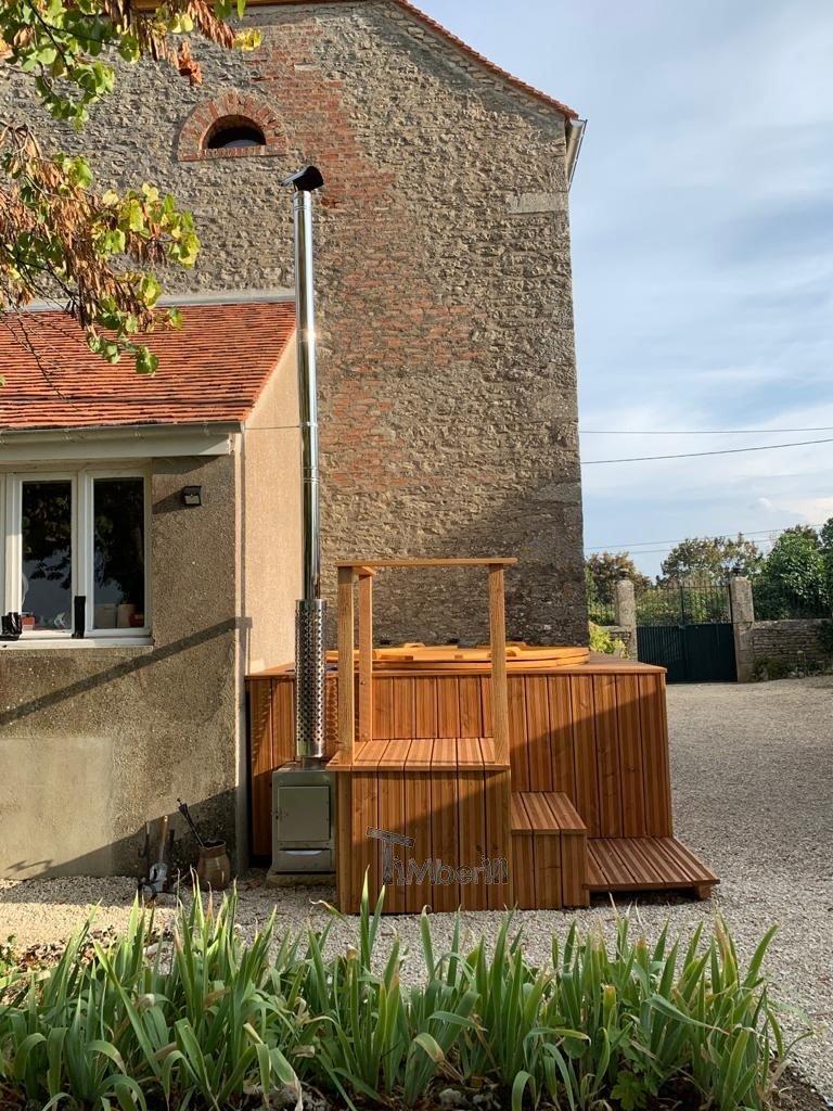 Bain nordique jacuzzi integre encastre a terrasse Christian FLAVIGNY SUR OZERAIN France 1