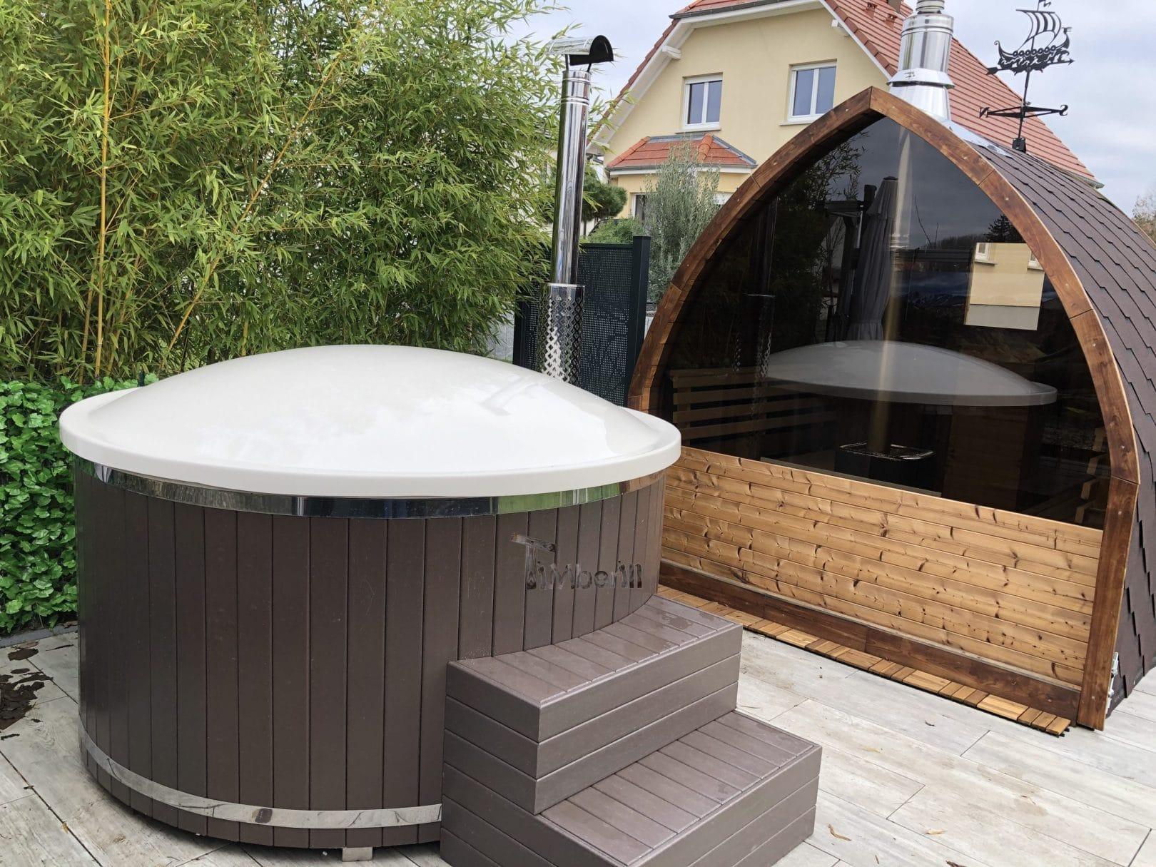 Bain nordique avec SMART poele a granules Sauna exterieur jardin Iglu Jose HAGUENAU France 1 scaled
