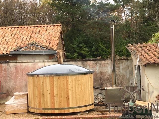 Bain Nordique Jakuzzi Avec Poêle Extérieur, Lapebie, AGONAC, France (3)