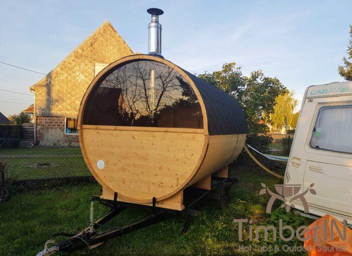 Sauna Extérieur Tonneau Rond (1)