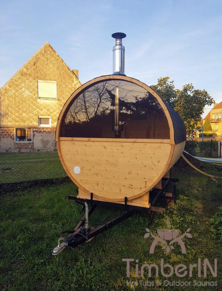 Sauna Extérieur Tonneau Rond (2)