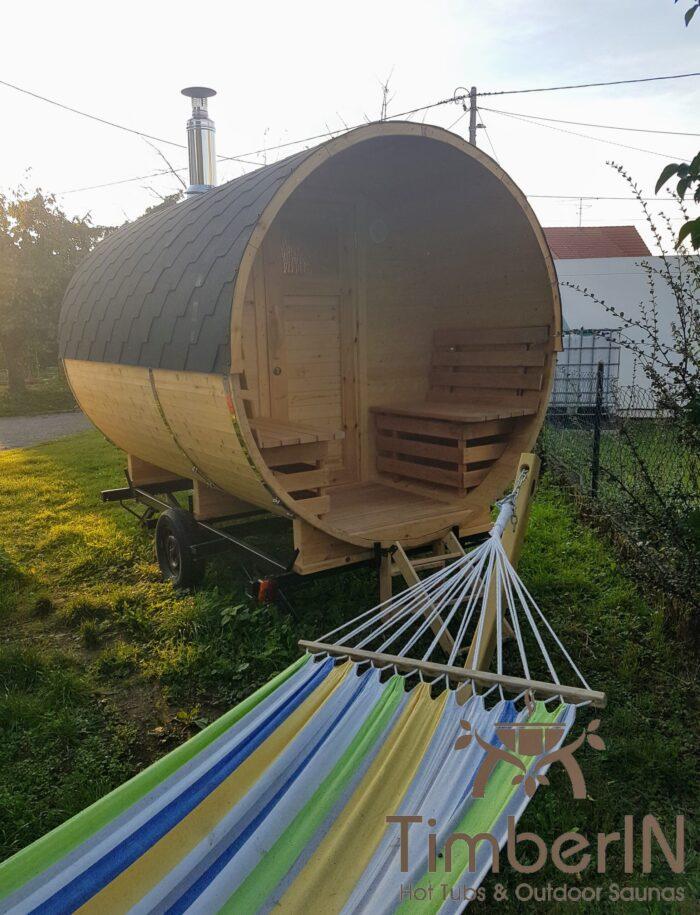 Sauna Extérieur Tonneau Rond (4)
